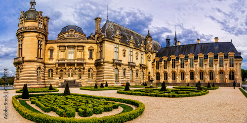 Wall Murals Castle Romantic beautiful castle Chateau de Chantilly. Royal residence. France