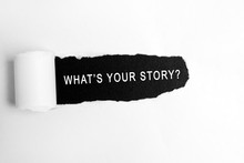 What's Your Story Text On Torn...