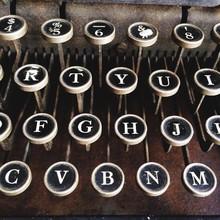 Vintage Antique Typewriter Machine Keys And Letters