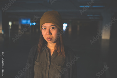 Chinese girl with hat