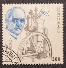 Postage Stamp  With Rudolf Di...
