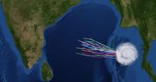 Spaghetti Plot Of A Hurricane ...