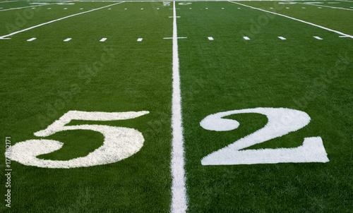 Fotografía Football Field 52 Yard Line