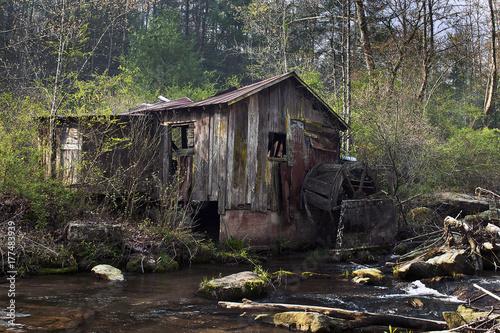 Fotografie, Obraz  Abandoned Grist Mill
