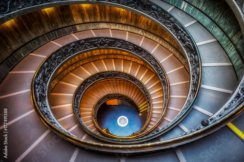 Vatican Museum Stairs Wallpaper Mural