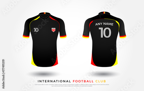 5c7a80c3c0e soccer t-shirt design uniform set of soccer kit. football jersey template  for football