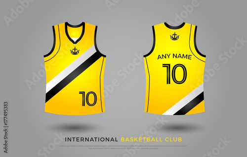 Basketball T Shirt Design Uniform Set Of Kit Basketball Jersey
