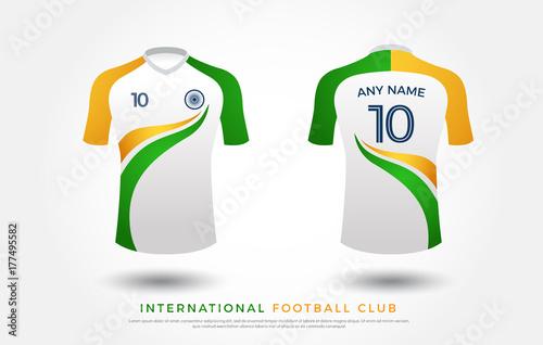 dbac724ef soccer t-shirt design uniform set of soccer kit. football jersey template  for football
