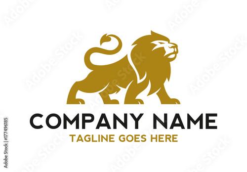 Naklejka premium unikalna ilustracja logo lwa