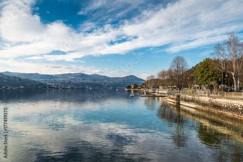 Fotografering Lake Maggiore, Angera, Italy