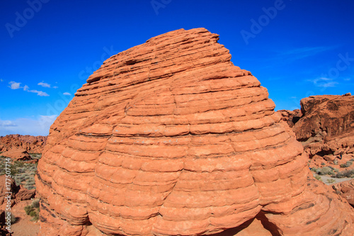 Deurstickers Koraal Beehive Rocks in Valley of Fire, Nevada