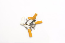 Cigarette Butts On A Isolated ...
