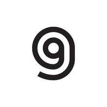Initial Letter Gg, G Inside G,...