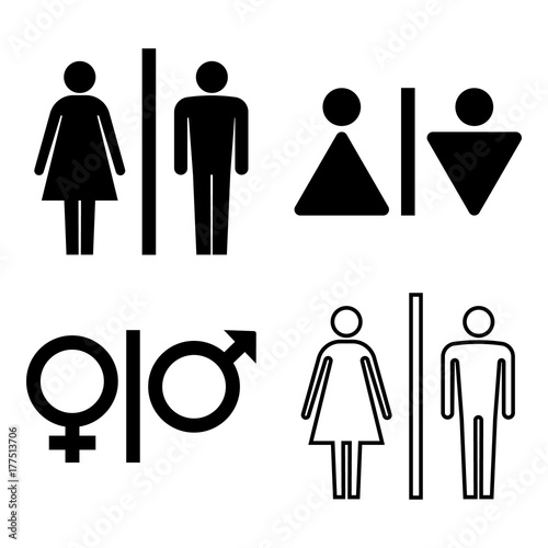 set of wc icons gender icon washroom icon man and woman icon isolated on white background vector illustration buy this stock vector and explore similar vectors at adobe stock adobe stock adobe stock