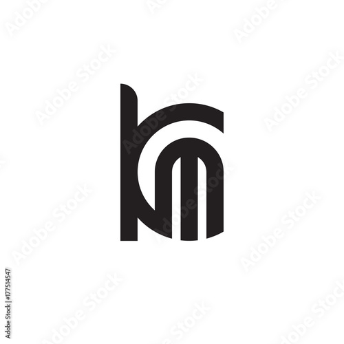 Initial Letter Km Mk M Inside K Linked Line Circle Shape Logo Monogram Black Color Buy This Stock Vector And Explore Similar Vectors At Adobe Stock Adobe Stock