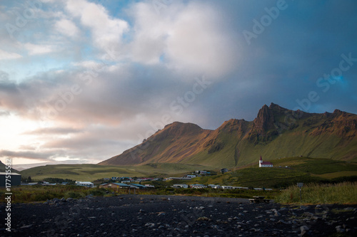 Foto op Aluminium Aubergine Iceland, black beaches. Beautiful landscape