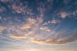 Leinwandbild Motiv cloudy sky at sunset
