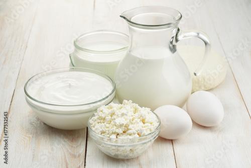 Staande foto Zuivelproducten Fresh dairy products