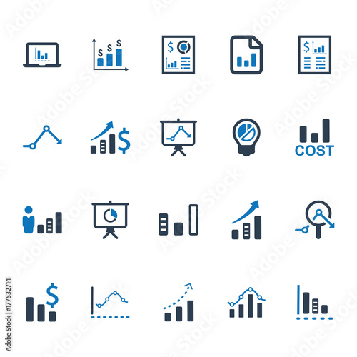 Fotografía  Business Graphical Report Icons