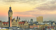 canvas print picture - Panorama, City Center, Leipzig, Germany