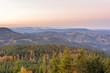 Autumn landscape - Black Forest. View over the autumnal Black Forest and the Rhine valley at sunrise.