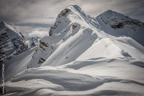 Pinturas sobre lienzo  Snowy mountain, Cime di Furcia Rossa