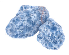 Raw Blue Calcite Clusters Isol...