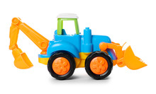 Plastic Toy Tractor Isolated O...