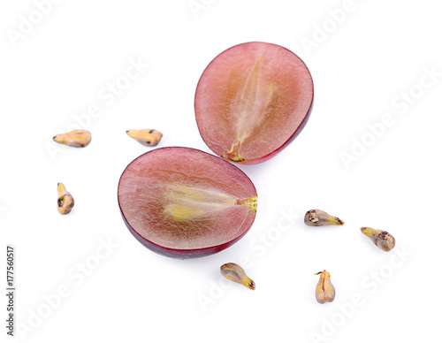grape and grape Seed isolated on white background Fototapete