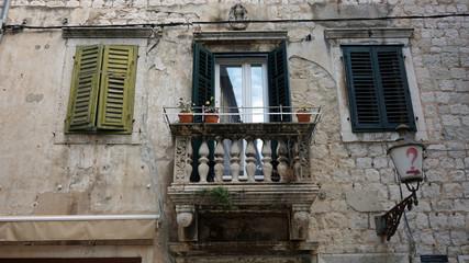 Fototapeta na wymiar close up from old window in croatia