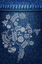Silver Lace Flower Embroidery ...