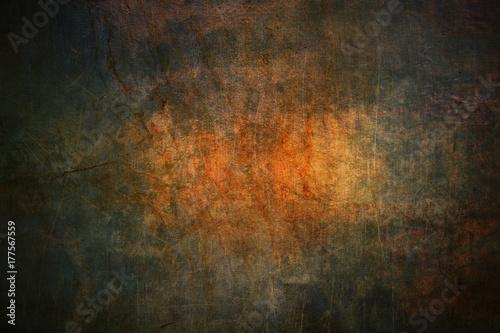 Fotografie, Obraz  Scary dark grunge background with scratches