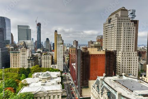 Zdjęcie XXL Panoramę Nowego Jorku Downtown