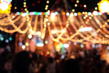 Blurred Lights Of Carnival At ...