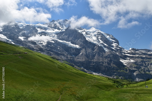Recess Fitting Panorama Photos Trail at the Swiss Alps
