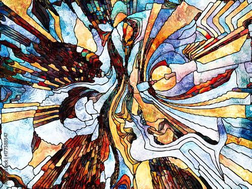 Fotobehang Paradijsvogel Evolving Color Division