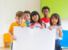 Diversity Children Holding Bla...