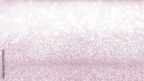 Rose Gold Pink Blur Glitter Bokeh Background With Blurry