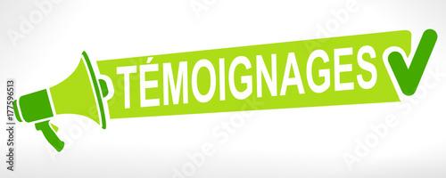 Photo témoignages mégaphone