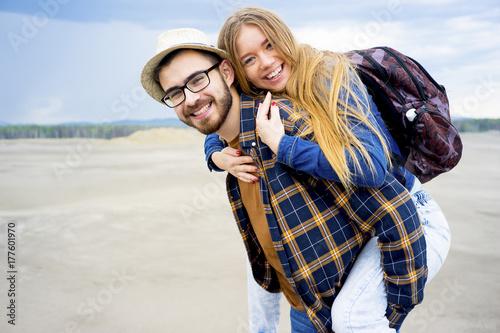 Zdjęcie XXL Podróżnicy na pustyni