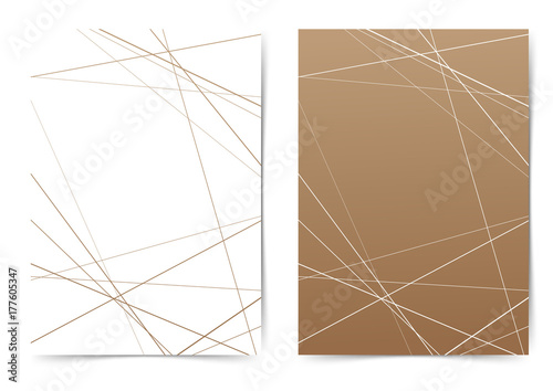 Thin line geometrical pattern folder cover template