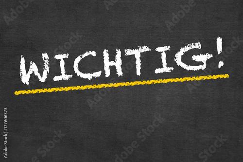 Tafel mit Aufschrift: WICHTIG! Canvas Print