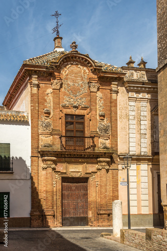 фотография  View at the facade of Aguilar palace in Carmona, Spain