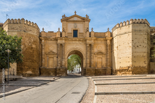 View at the Cordoba gate in Carmona, Spain Canvas Print