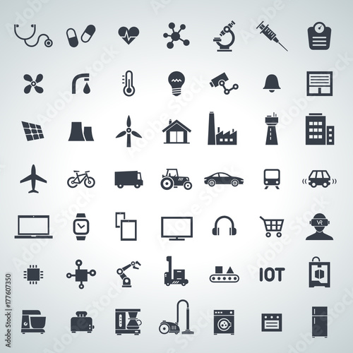 Obraz IOT, internet of things icon set - 2017_10 - 2 - fototapety do salonu