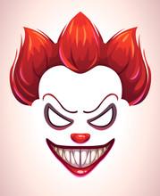 Creepy Clown Mask.