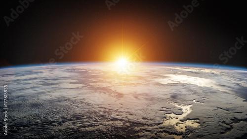 Fototapeta Planeta Ziemia w przestrzeni Elementy renderowania 3D tego zdjęcia dostarczone przez NASA