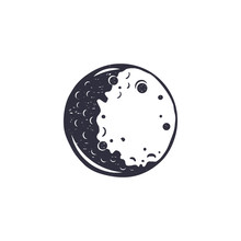 Vintage Hand Drawn Moon Symbol...