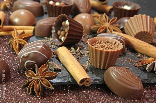 Plakat Świąteczne czekoladki