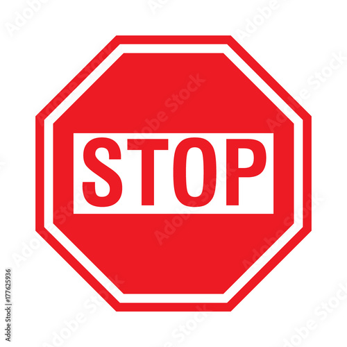 Red Stop Sign Icon For Apps And Website Buy This Stock Vector And Explore Similar Vectors At Adobe Stock Adobe Stock
